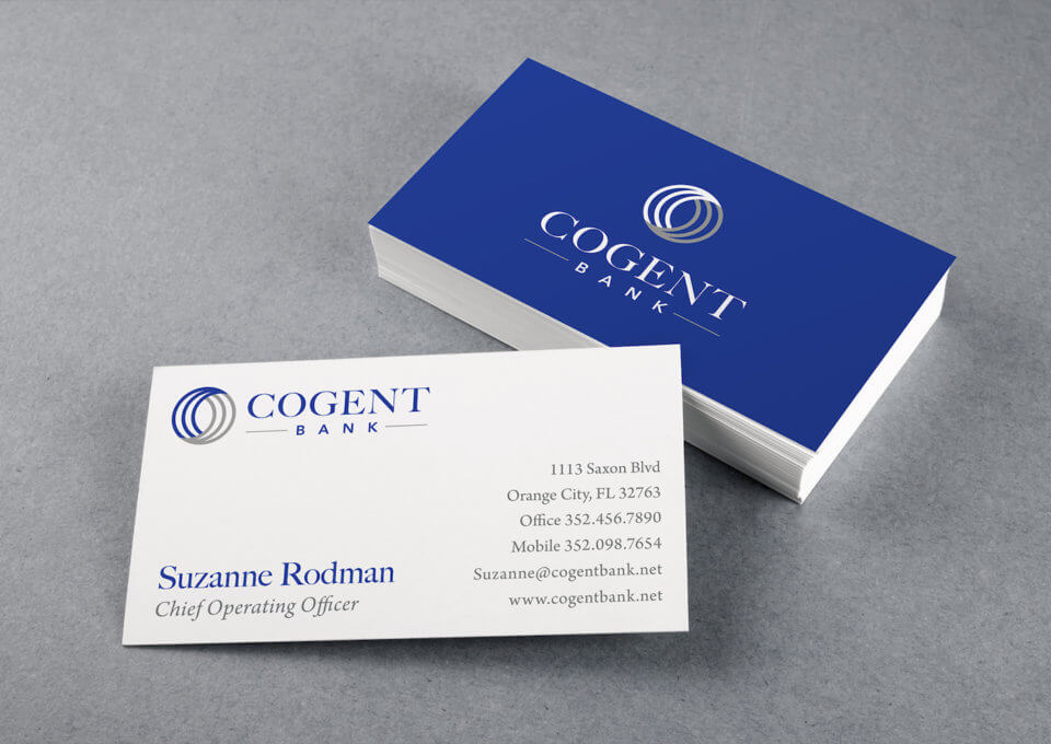 Cogent Bank Business Card Design