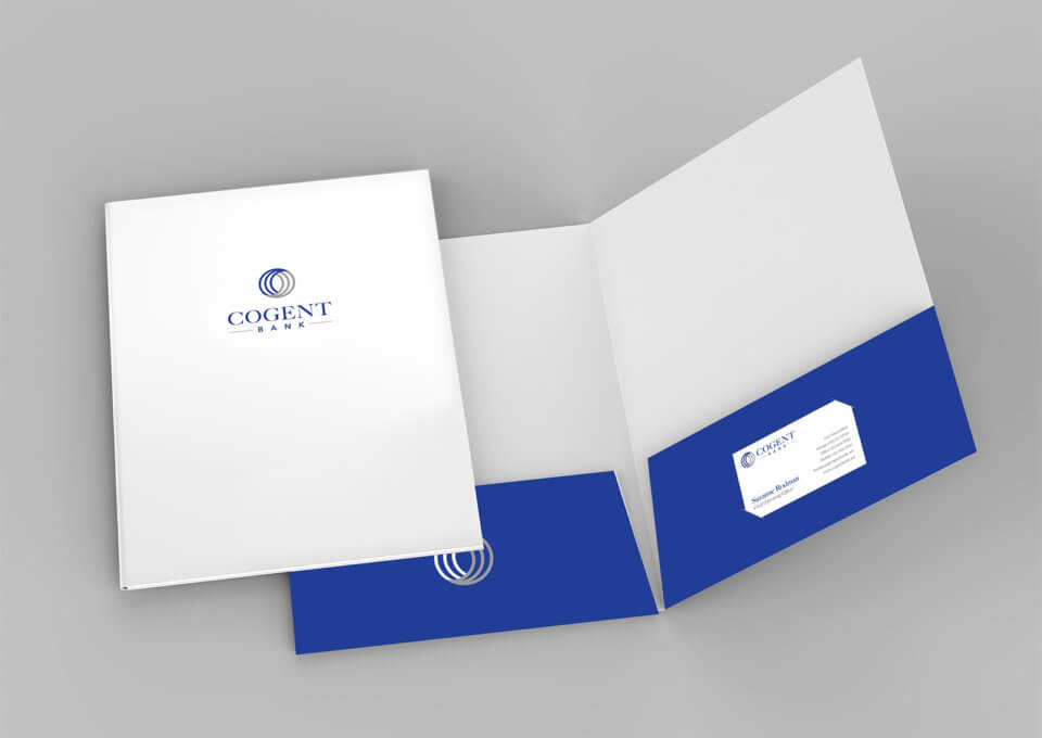 Cogent Bank Folder Design