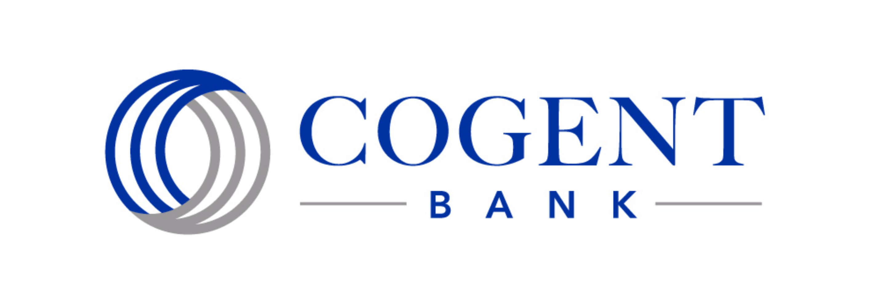 Cogent Bank Logo Design White
