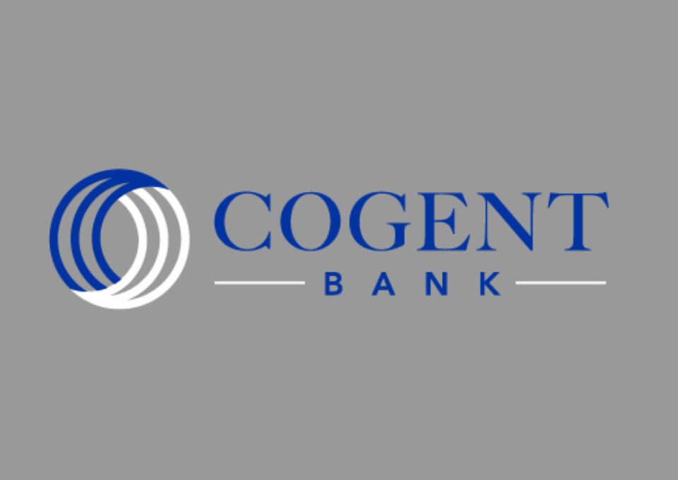 Cogent Bank Logo Design Grey