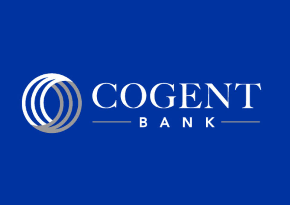 Cogent Bank Logo Design Blue