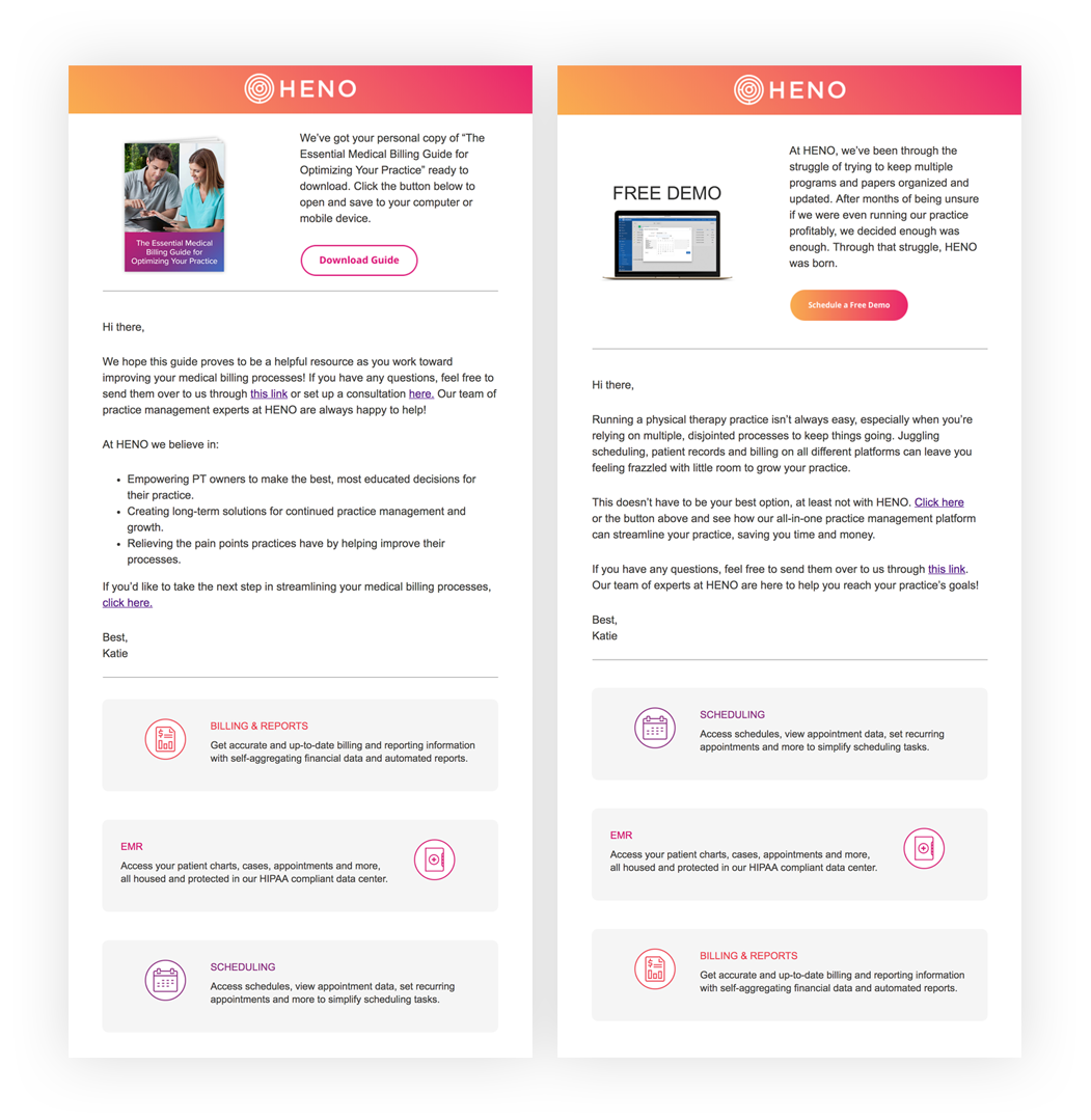 HENO Email Template Design